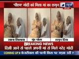 Narendra Modi meets mother, seeks blessings before leaving for Delhi