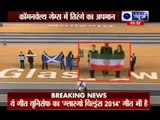 Indian Flag being insulted in Common Wealth Games