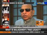 Bal Thackeray's death: Political leaders express grief - NewsX