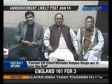 Kalyan Singh set to join BJP - NewsX