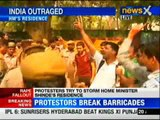 Masoom rape case: Protestors storm at Home Minister's residence