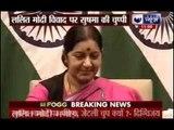 Stung by Lalit Modi visa row, Sushma Swaraj flags off Mansarovar Yatra