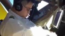 VIDÉO : Un pilote d'une compagnie aérienne est filmé en train de dormir en plein vol