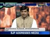 NewsX: BJP addresses media