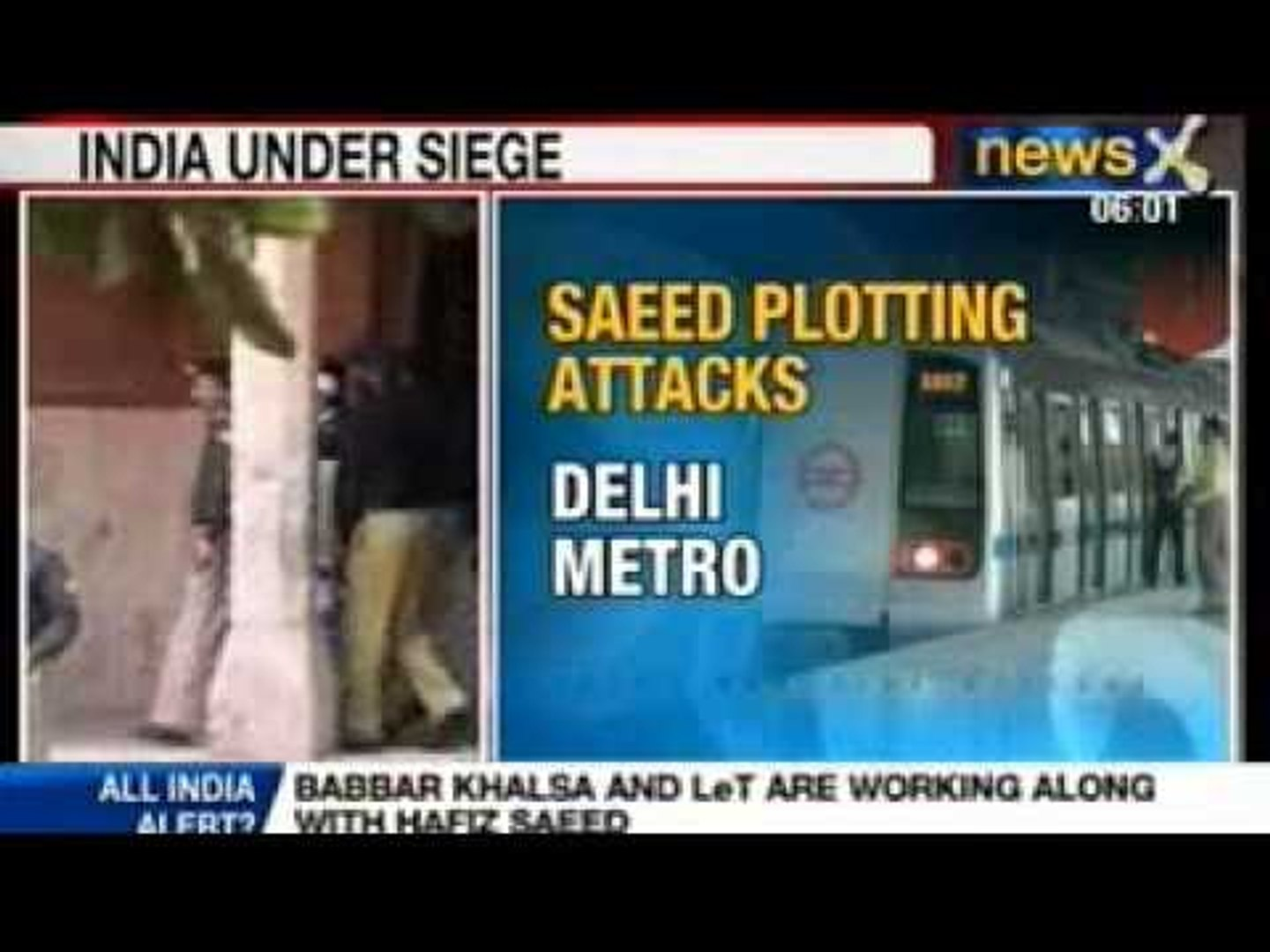 News X: Terror alert in India, terrorist eye south India