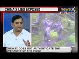 NewsX has accesses video showing Chinese troops on Indian soil