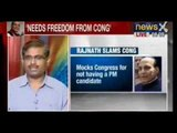NewsX : India needs freedom from Congress, says Rajnath Singh