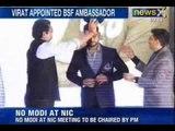 NewsX : Virat Kohli appointed as the Brand Ambassador of Border Security Force in Delhi