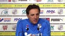 Avant le match Stade de Reims - Amiens SC, Christophe Pélissier