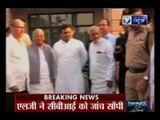 Uttar Pradesh CM Akhilesh Yadav meets Mulayam Singh Yadav