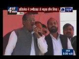 UP Election 2017:UP CM Akhilesh Yadav seizes mic with local leaders in Meerut, Uttar Pradesh