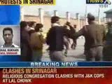 Religious congregation clashes with Jammu & Kashmir cops at Lal Chowk - News X