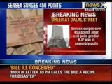 Sensex up 369 points as Exit polls forecast strong show by BJP - NewsX