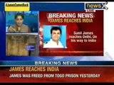 Breaking News  James reaches India  Sunil James reaches delhi, on his way to India