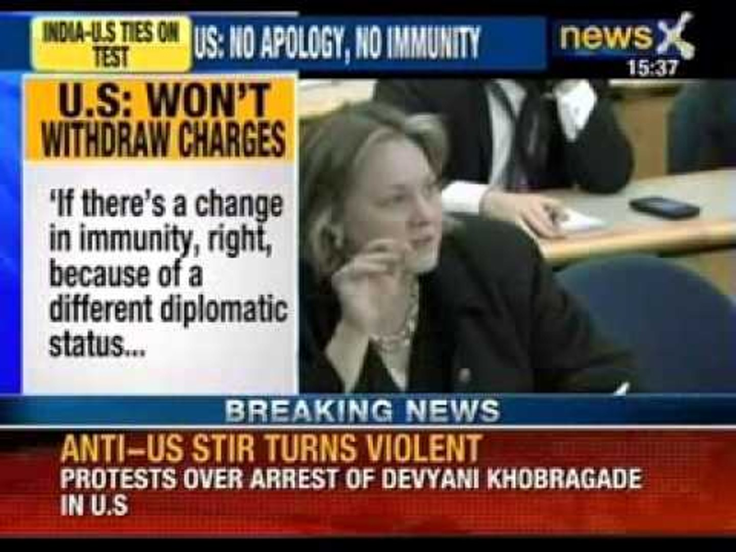 NewsX: Devyani stip search case - Outlets of McDonalds & Dominos targeted in Mumbai by RIP worke