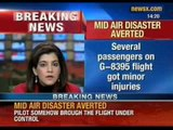 Mid air disaster averted: Go-Air flight survives mid air scare over Lucknow - NewsX