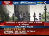Union Cabinet clears Telangana Bill with amendments - NewsX