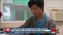 Spelling Bee champion gives advice