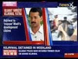 Arvind Kejriwal detained in Gujarat
