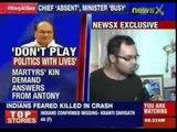 Martyr's kin demand answers fron AK Antony