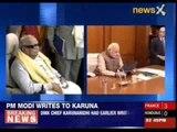 Narendra Modi writes to DMK chief Karunanidhi