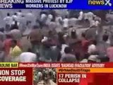 Massive protest by BJP workers in Lucknow