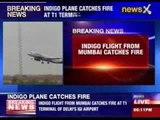 IndiGo flight catches fire on landing at Delhi airport