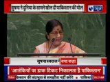 "Sushma Swaraj Speaks at UN, say, ""Pakistan Sheltered Osama Bin Laden"""
