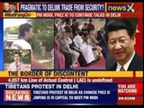 Tibetans protest in Delhi as Chinese President Xi Jinping visit