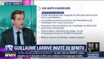 """Guillaume Larrivé (LR) sur les casseurs: """"Il faut que Christophe Castaner arrête son stage, qu'il devienne vraiment ministre de l'Intérieur"""""""