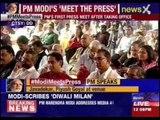 Narendra Modi addresses media at 'Diwali Milan' event at BJP headquarters