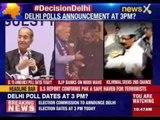 Delhi Assembly Elections/Polls: Delhi Polls announcement at 3PM?