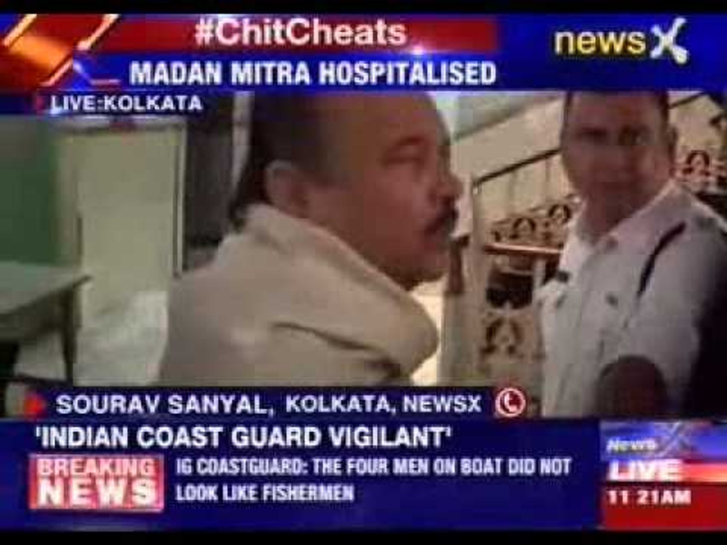 West Bengal minister Madan Mitra taken to hospital