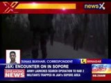 Terrorists holed up in Sopore area in Kashmir