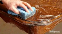 How to restore furniture without chemical stripping