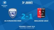 J24 : US Avranches MSM - Boulogne USCO (2-1), le résumé
