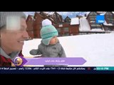 عسل أبيض - فيديو يجذب مشاهدات عالية لطفلة تتزحلق على الجليد بمهارة عالية دون أن تسقط