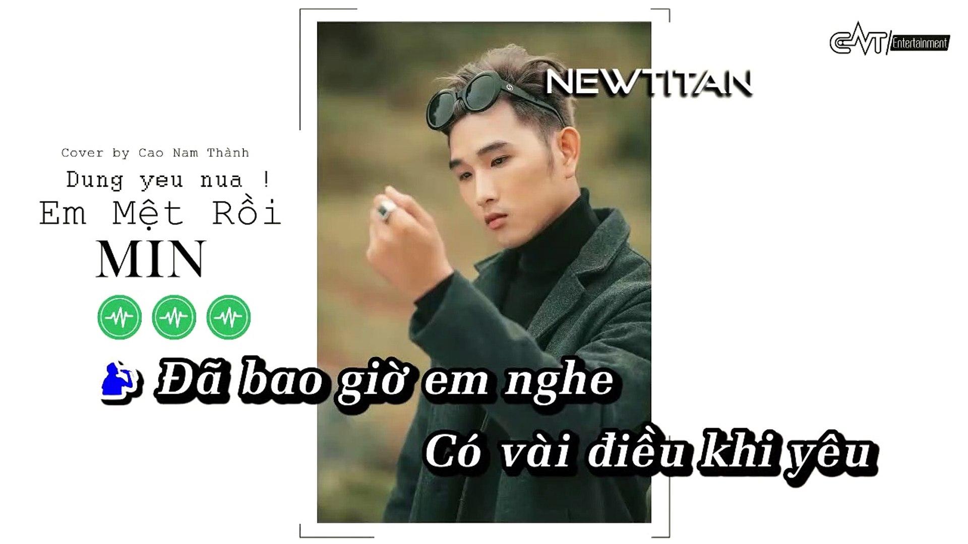 [Karaoke] Đừng Yêu Nữa Em Mệt Rồi (Cover Acoustic) - Cao Nam Thành [Beat]