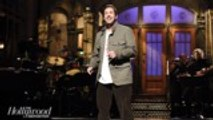 'SNL' Rewind: Adam Sandler Returns For Hosting Debut, Pays Tribute to Chris Farley | THR News