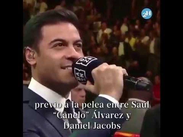Carlos Rivera recibe críticas por entonar Himno Nacional