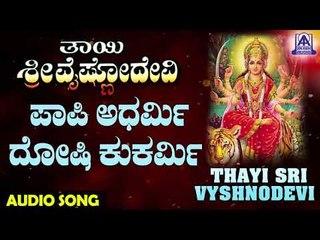 Paapi Adharmi | Thayi Sri Vyshnodevi | Kannada Devotional Songs | Akash Audio