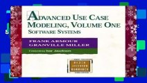 Advanced Use Case Modeling: Software Systems: Software Systems v. 1 (Object Technology Series)