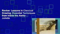 Review  Lessons in Classical Drawing: Essential Techniques from Inside the Atelier - Juliette