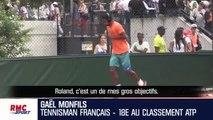 """Gael Monfils """"J'ai envie de gagner Roland-Garros, c'est l'un des mes objectifs"""""""