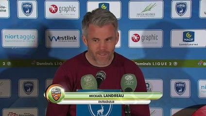 La réaction de Mickaël Landreau après Niort - FC Lorient (2-2) 18-19