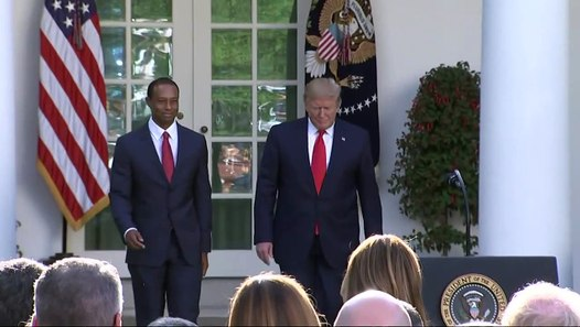 Golf - Tiger Woods awarded Medal of Freedom by President Trump ...
