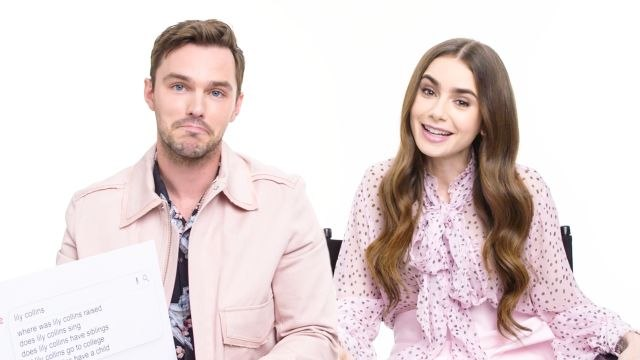 Lily Collins & Nicholas Hoult Answer the Web's Most Searched Questions