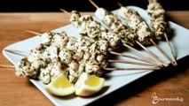 Recette : brochettes de poulet mariné