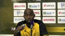 Mamadou Dia après la défaite de Fos contre Le Portel