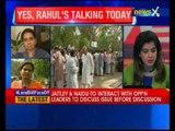 Rahul bats in parliament, Sonia at Janpath